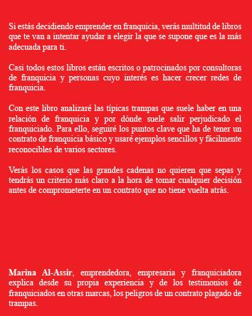 libro rojo de la franquicia resumen