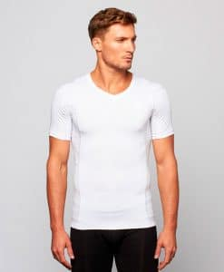 Mens'-Posture-Shirt-CORE_White_Front_Model