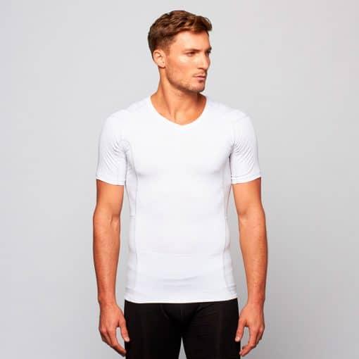 Mens'-Posture-Shirt-CORE_White_Front_Model