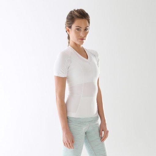 Women's-Posture-Shirt-CORE_White_Front-model